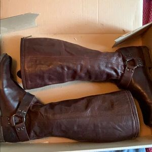 Frye Phillip Harness Rising Boots